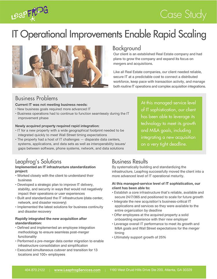 IT Operational Improvements Case Study